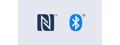 Logotipos de Bluetooth? y NFC