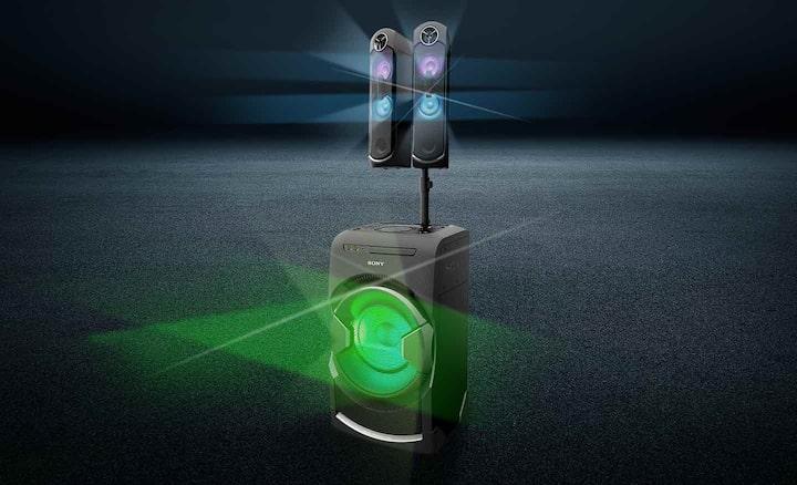 Efectos de DJ y luces de parlante